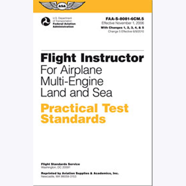Practical Test Standards: CFI - Multi-Engine